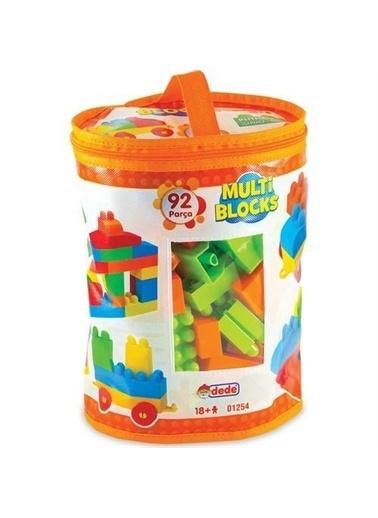 Dede Dede Multi Blocks 92 Parça Eğitici Oyuncak Lego  Yapboz Seti Renkli
